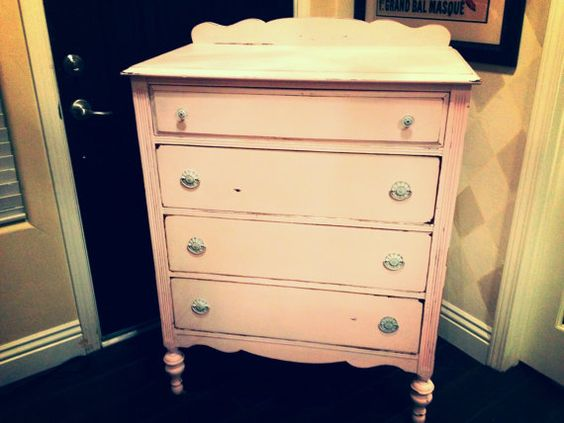 Shabby Chic My Dresser Baby Pink For Emmy