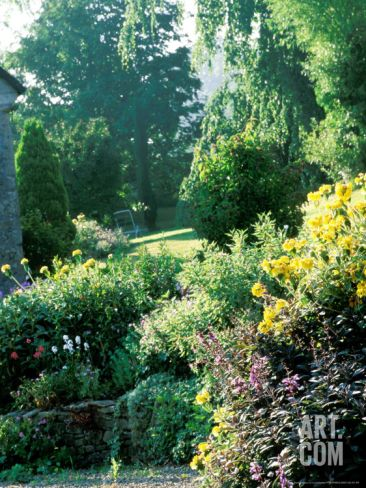 Informal Organic Garden Planted with Mixed Herbaceous Bulbs & Roses Photographic Print by Lynn Keddie at Art.com