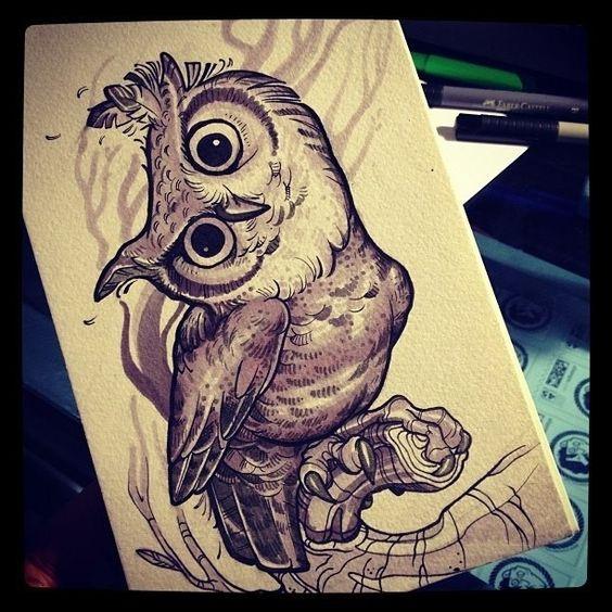 Tattoo | ink | drawing | owl