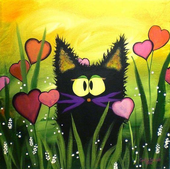Valentine's Kitty. by Cynthia Schmidt