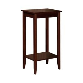 Tall End Table Brown Rosewood For Dining Room Target Home