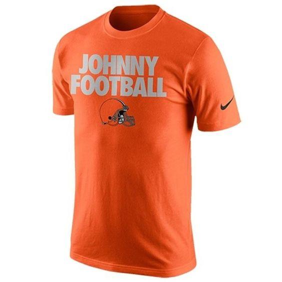 Johnny Manziel Cleveland Browns Nike Johnny Football QT T-Shirt - Orange