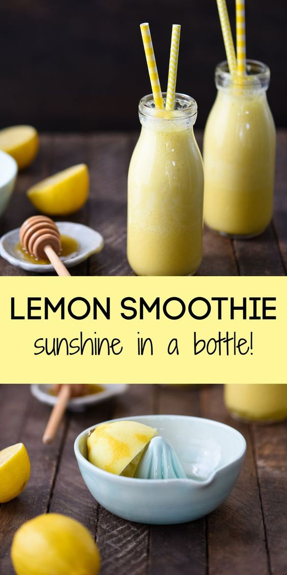 Lemon Smoothie (Sunshine in a Bottle!)