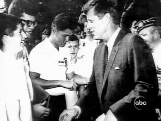 bill clinton meet jfk