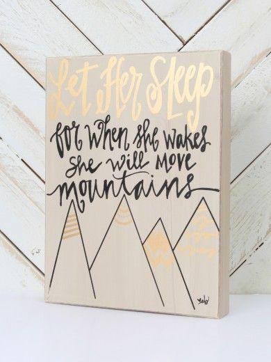 Let Her Sleep Box Sign - Love this idea or a little girl's nursery: