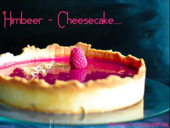 Cheesecake Tart with a Raspberry Mirror (http://www.s-kueche.com/2014/08/cheesecake-tarte-mit-himbeerspiegel.html)