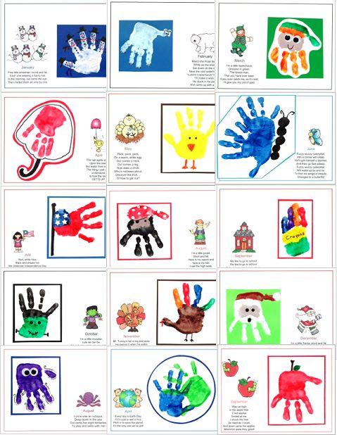 Calendar Handprint Art : Handprint calendar added to  learn