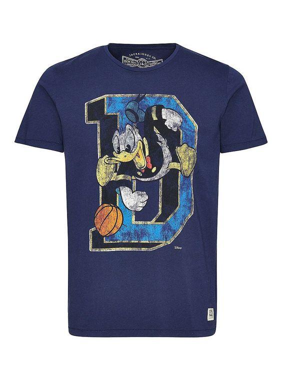 ORIGINALS by JACK & JONES - T-Shirt von ORIGINALS - Slim fit - Rundhalsausschnitt - Disney-Aufdruck auf der Vorderpartie 100% Baumwolle...
