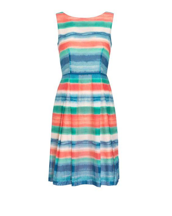 Alana Striped Prom Dress