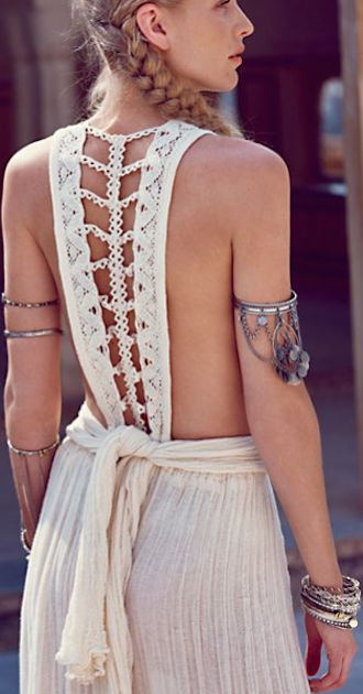 gorgeous braided back dress: