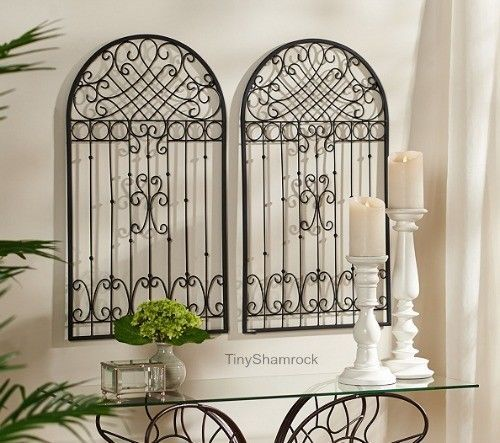 Old World French Country Style Wall Art Garden Gate Art Includes