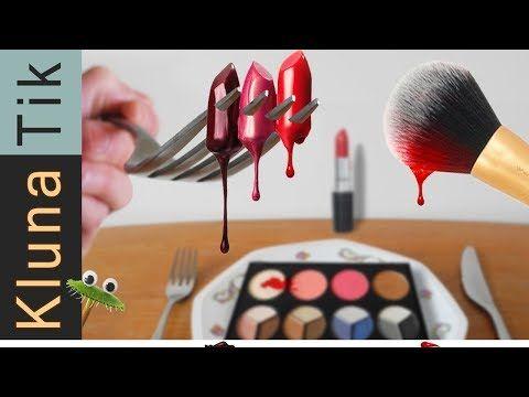 Eating Makeup Asmr Klunatik Compilation Eating Sounds No Talk Make Up Comiendo Maquillaje Youtube Fake Lashes Face Reveal Venus Flytrap Plant
