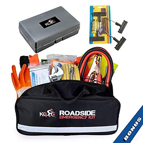 Great for Automotive Roadside Assistance /& First Aid Set Kolo Sports Premium Auto Emergency Kit 156-Piece Multipurpose Emergency Pack The Ultimate All-in-One Solution