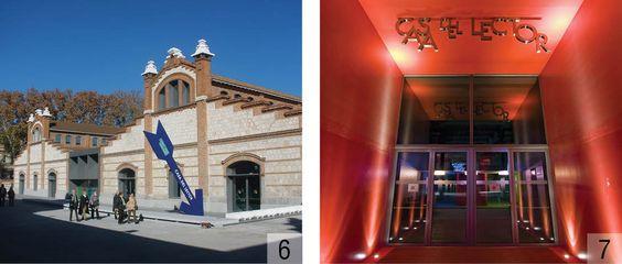 Señalética en La Casa del Lector en Matadero Madrid. El diseño es de Alberto Corazón.