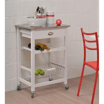 Küchenwagen Collins - Weiß