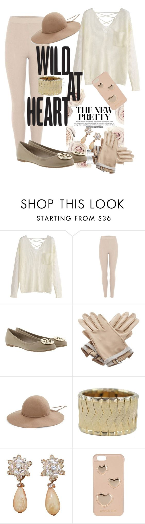 """""""Wild at heart"""" by sarahs884 ❤ liked on Polyvore featuring adidas Originals, Tory Burch, Hermès, Kathy Jeanne and MICHAEL Michael Kors"""