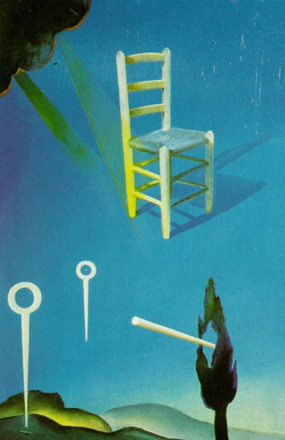 Salvador Dali - The Chair (stereoscopic work, right component), 1976