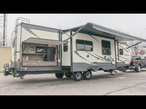 2017 Palomino Puma 32bhks Triple Slide Bunkhouse Travel Trailer