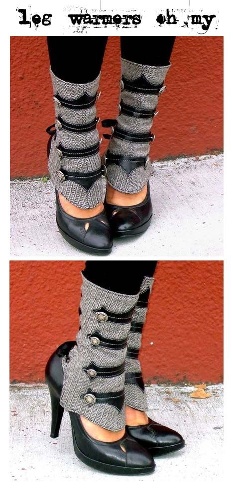 Leg warmers -- I don't have the guts, but aren't these amazing?