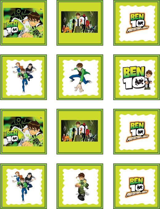 FREE Ben 10 printable party stickers #free #printables