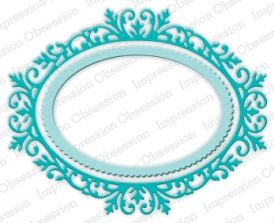 Ornate Oval Frame - DIE391-ZZ: