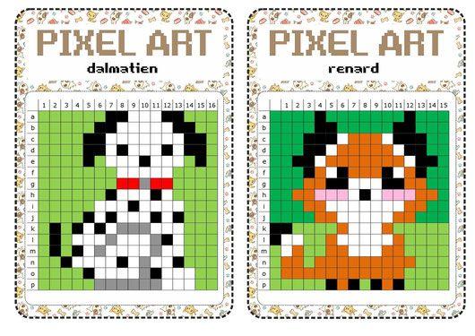 Atelier Libre Pixel Art Pixel Art A Imprimer Pixel Art Art Ce2