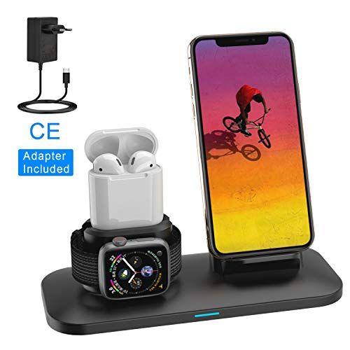 Simpfun Chargeur Sans Fil W01 Station De Charge Rapide Wireless Qi Pour Apple Watch 4 3 2 1 Airpods Iphone Xs Xr Apple Watch Charger Apple Watch Watch Charger