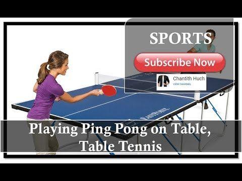 Playing Ping Pong On Table Table Tennis Ping Pong Table Tennis Pong