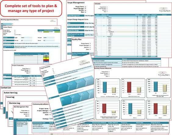 Vyrtunet Project Excel Workbook Plan Track Measure And Report