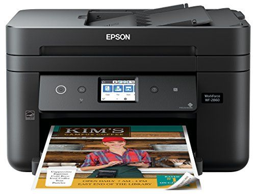 Epson Workforce Wf 2860 All In One Wireless Color Printer With Scanner Driven By Precisioncore Printing Technology Printer Scanner Epson Printer Printer