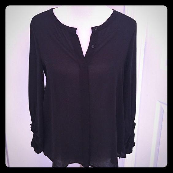 Ann Taylor Loft blouse Black sheer blouse Ann Taylor Tops Blouses