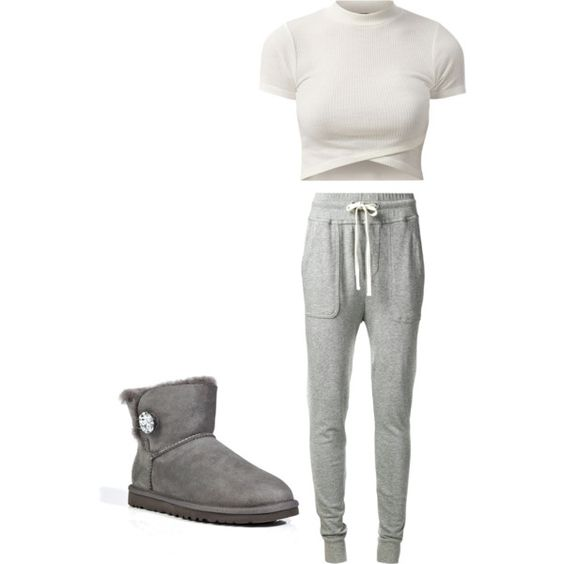 Untitled #52 by orianne223 on Polyvore featuring polyvore fashion style James Perse UGG Australia