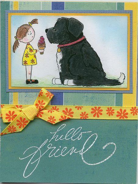 Hello Friend by Thimbles3 @2peasinabucket: