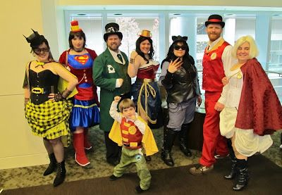 Steampunk DC Justice League cosplay - ECCC cosplay pics