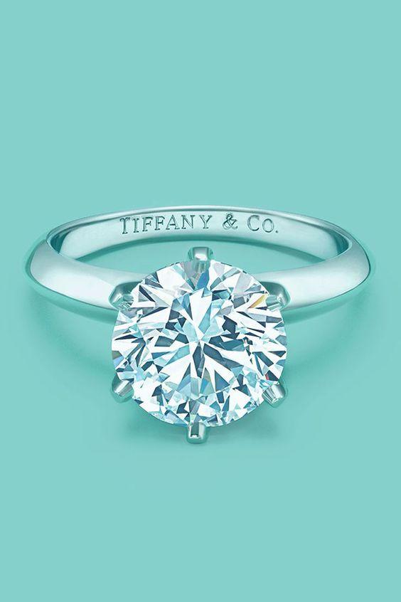 Tiffany's classic round cut diamond wedding engagement ring anillos de compromiso | alianzas de boda | anillos de compromiso baratos http://amzn.to/297uk4t