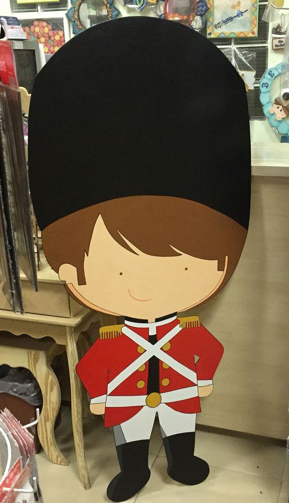 Pintura decorativa soldado inglês.