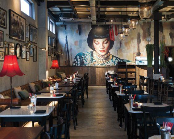 Elle decor bali and murals on pinterest for Mural restaurant