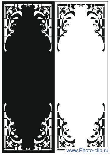 Пескоструйный рисунок Рамка №452