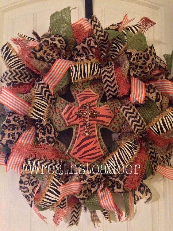 Fall burlap wreath www.facebook.com/wreathstoadoor