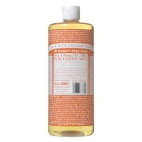 Dr. Bronner`s Magic Soaps Pure-Castile Soap, 18-in-1 Hemp Tea Tree, 32-Ounce $14.99