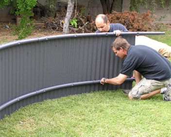 Pinterest the world s catalog of ideas for How to put a trampoline in the ground