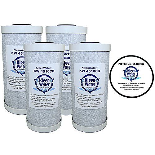 Kleenwater Kw4510cb Carbon Block Replacement Water Filter Cartridges Set Of 4 Kleenwater Pwfrg357 Wide Bod O Ring Glassware
