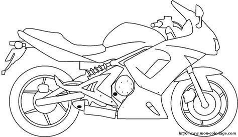 Ausmalbild Motorrad Drucken Fahrrad