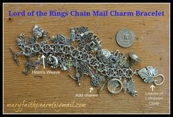 MIDDLE EARTH Chain Mail Charm Bracelet (Build-A-Bracelet)