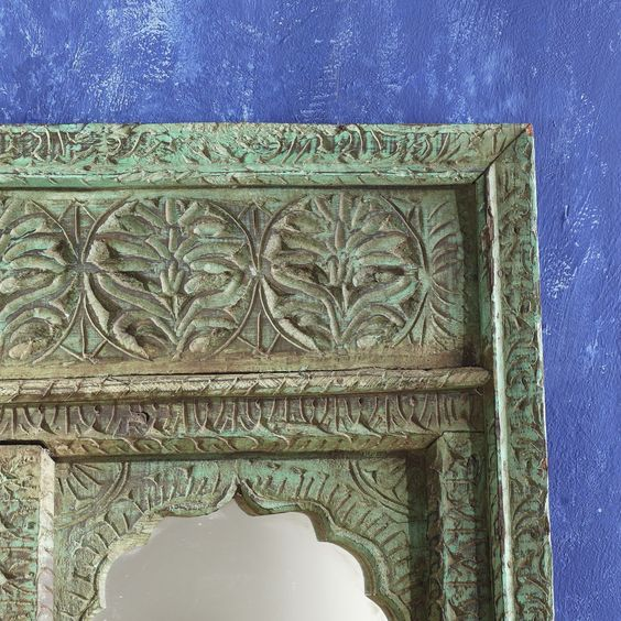 K0295 Arched Indian Mirror