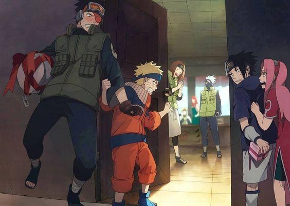 Obito,Naruto,Sasuke,Sakura,Rin,Kakashi,Minato and Kushina