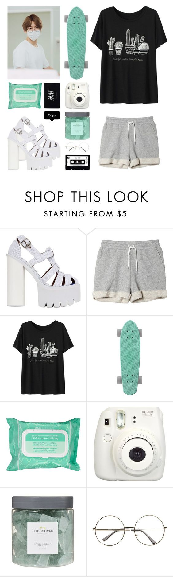 """""""love me right"""" by fxckkparadixe ❤ liked on Polyvore featuring мода, Jeffrey Campbell, Monki, Ole Henriksen, H&M и Threshold"""