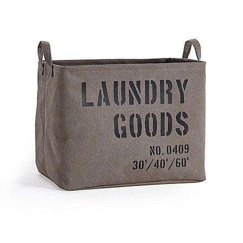 Danya B Army Canvas Laundry Basket In Olive Green Laundry