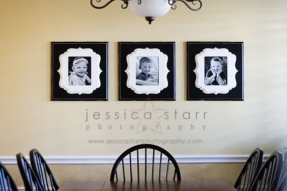 Stunning wall display with Organic Bloom hand painted frames