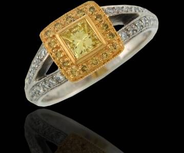 Fancy yellow princess cut